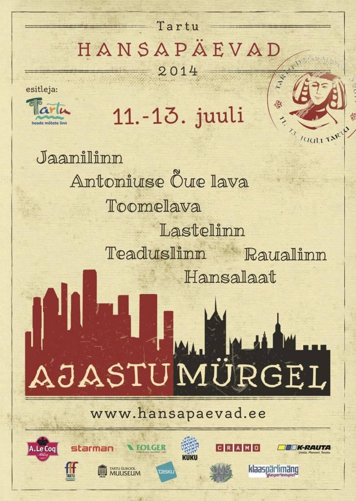 The poster of Tartu Hanseatic Days – Epochal Jamboree!